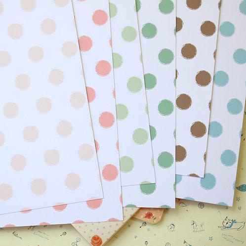 set 01 distressed dots mix printed card stock