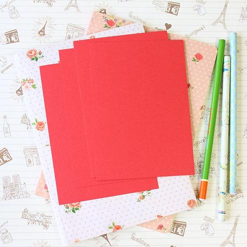 poppy red vintage series postcard blanks