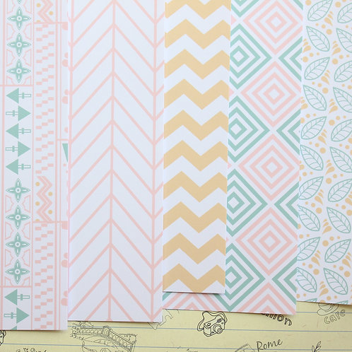 set 01 delicate patterns mix printed card stock