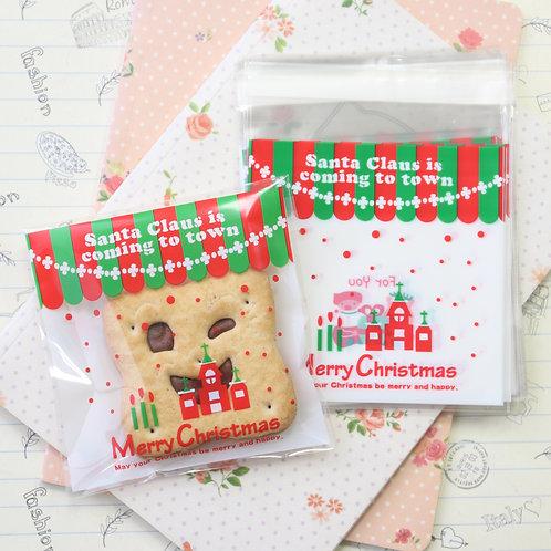 cute christmas cartoon plastic bags