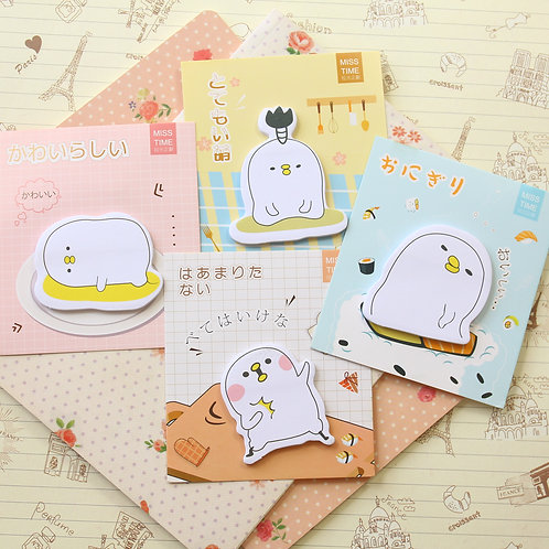 miss time egg blob cartoon shapes sticky notes