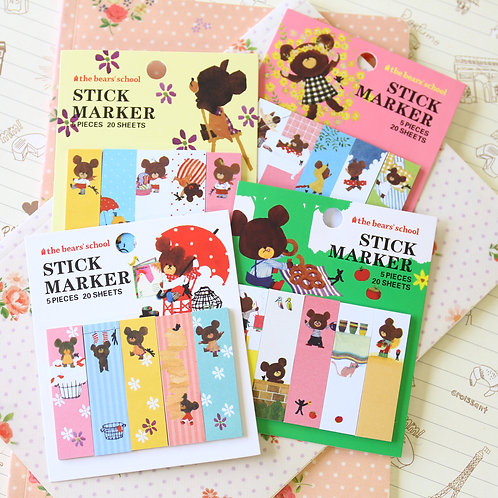 the bears school cartoon sticky notes