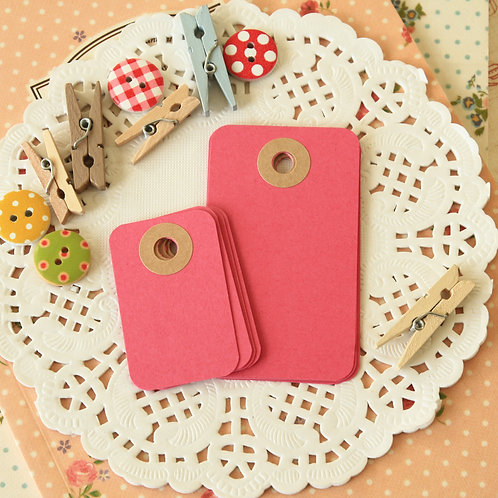 raspberry punch rounded rectangle tags