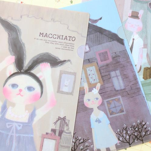 macchiato bunny cartoon file folder
