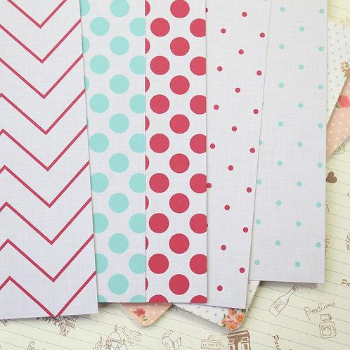 set 02 linen patterns printed card stock