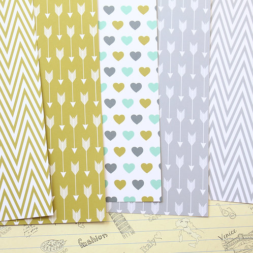 set 02 arrows and chevron printed card stock