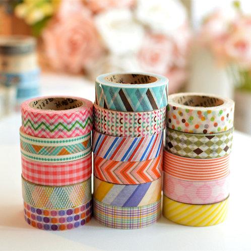 meetape basic pattern deco washi tapes