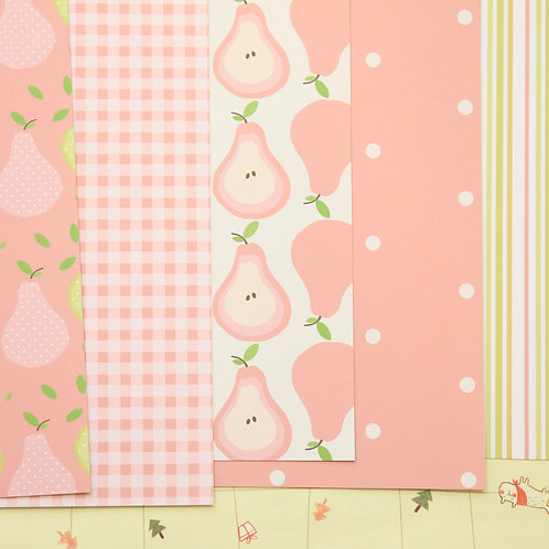 set 02 pears mix printed card stock