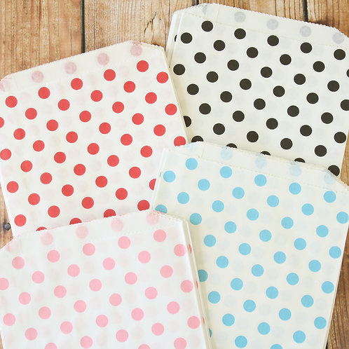 polka dot bigger bitty paper bags