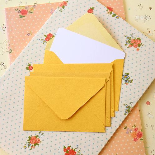 gold textured mini envelopes & notecards