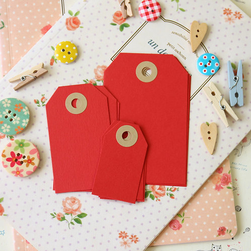 christmas red papermill series luggage gift tags