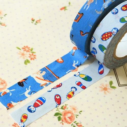 blue classiky yonagado cartoon washi tapes