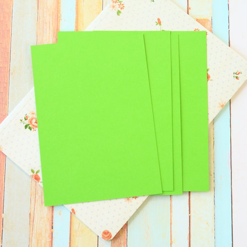 chartreuse green craft style blank postcards