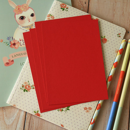 scarlet red eco postcard blanks