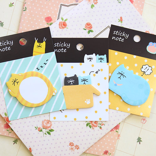 amazing cat cartoon sticky notes