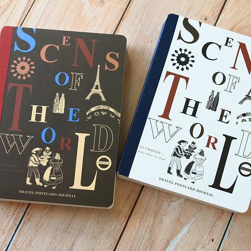 travel postcard journal book photo postcards
