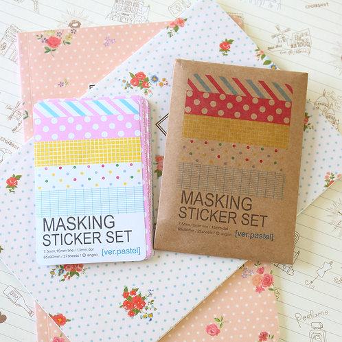 masking stickers ver pastel