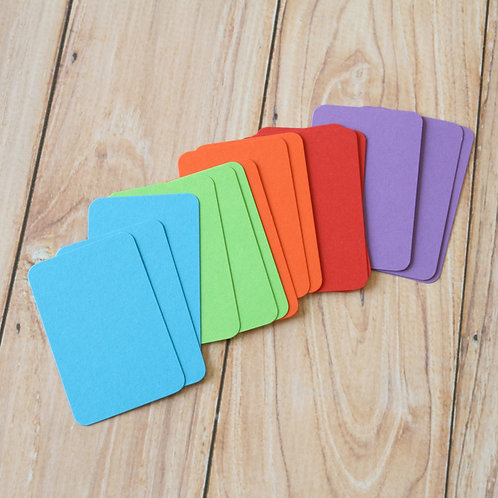 bright mix colorset blank business cards