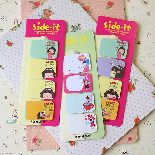 pony brown side it cartoon sticky notes