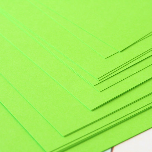 chartreuse green craft style cardstock