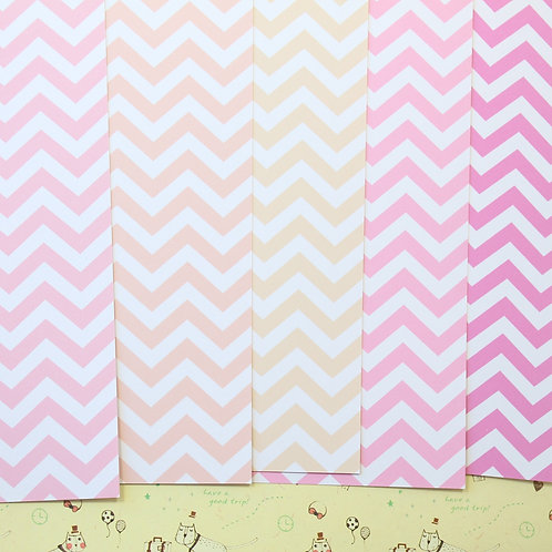 set 01 chevron art mix printed card stock
