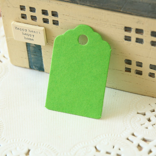 lime green scallop swing tags