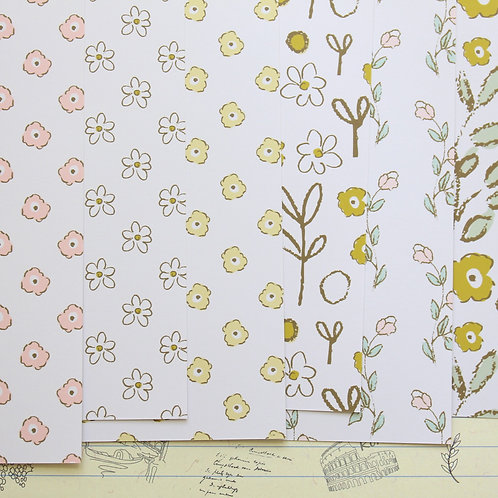 set 01 pretty spring florals mix printed card stock