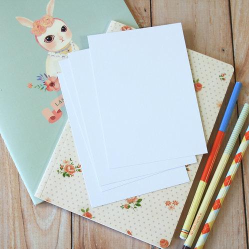 smooth white eco postcard blanks