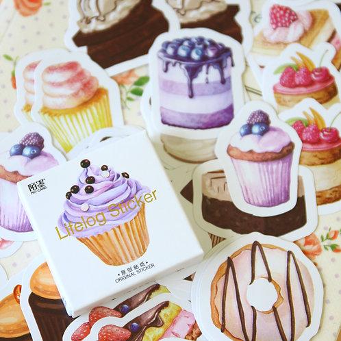 cake lifelog cartoon shapes stickers