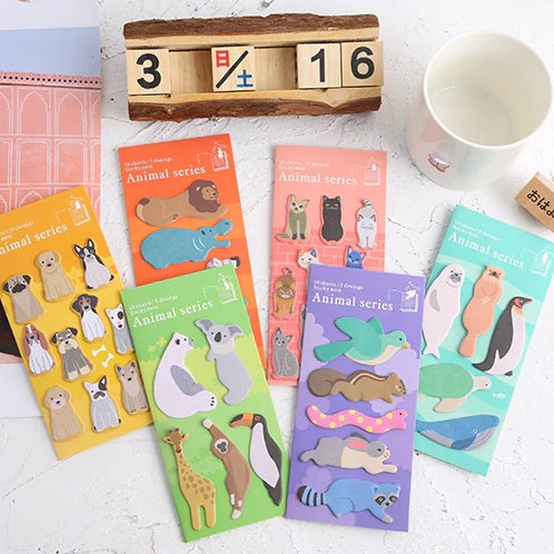 animal series cartoon sticky notes