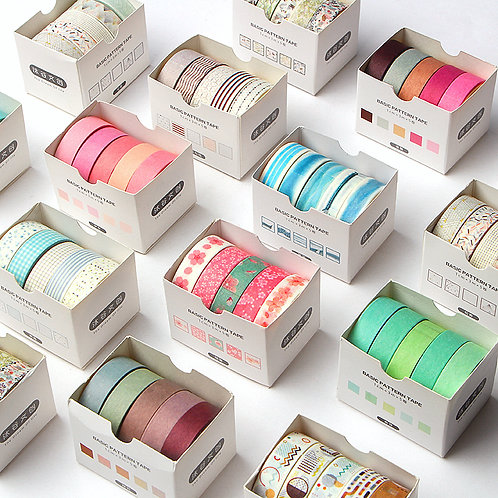 basic pattern tape washi tapes set
