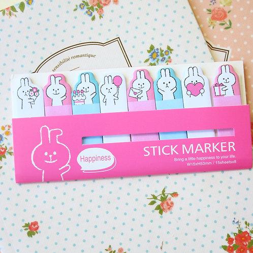 happiness bunny stick marker cartoon sticky notes ver 03