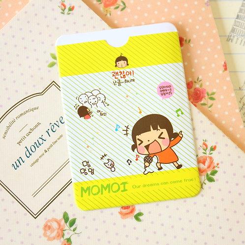 sing momoi girl cartoon card holder