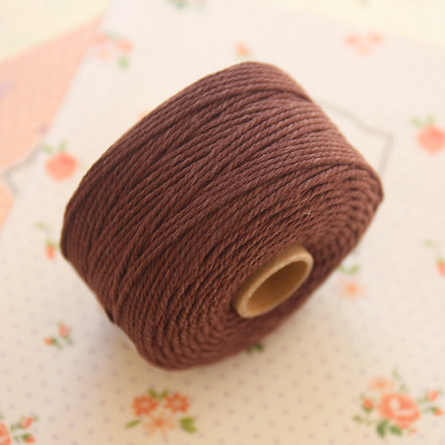chocolate brown twisted cotton bakers twine 80m