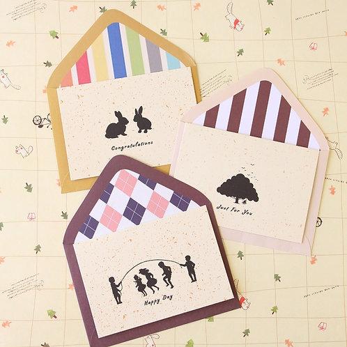 creative blessings cartoon greeting cards set 02