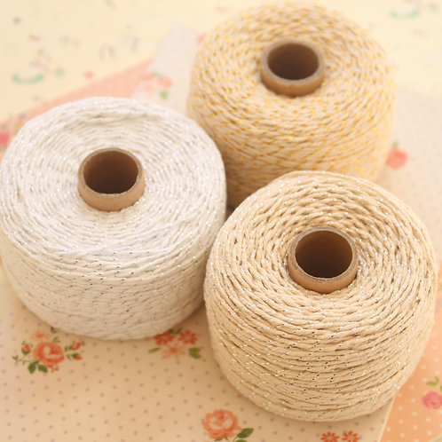 twisted cotton & metallic bakers twine 100m