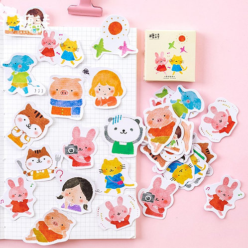 my friends candy poetry cartoon stickers