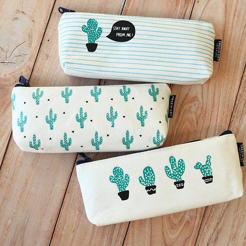cute cactus pen bag
