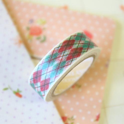 red & green argyle washi tape