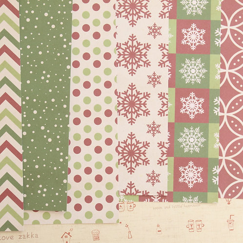 set 01 christmas is here mix printed card stock