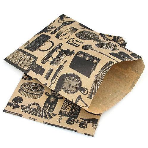 victorian vintage style kraft brown paper bags