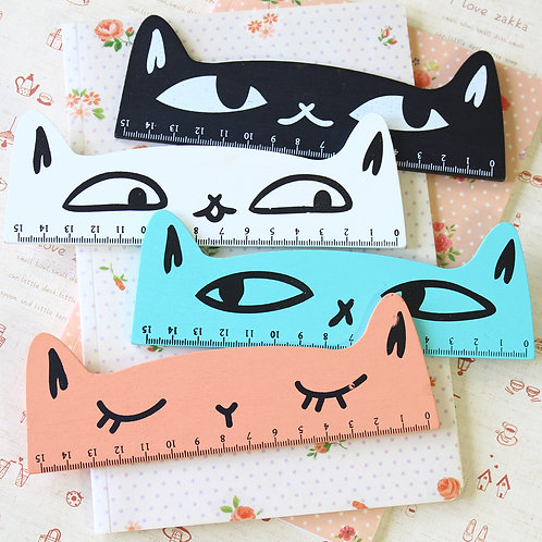 good cat cute cartoon ruler