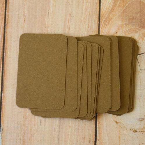 hazelnut brown crush earth tones blank business cards