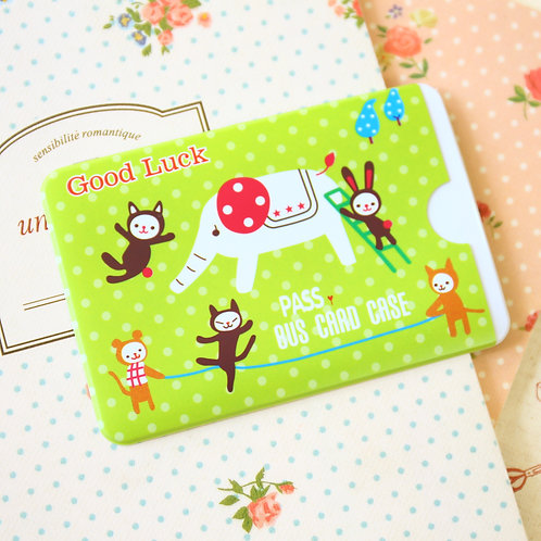 good luck animals cartoon card holder