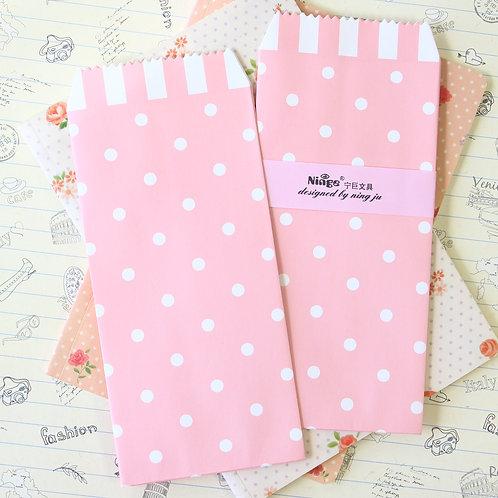 polka dot pink natural pattern tall envelopes