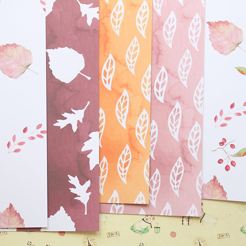 set 01 autumn leaves printed card stock