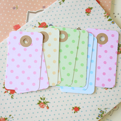 pastel dots rounded rectangle tags