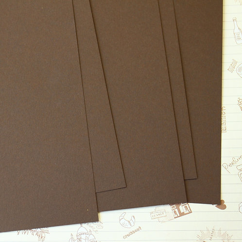 mocha brown papermill series card stock