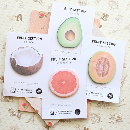 fruit section cartoon sticky notes