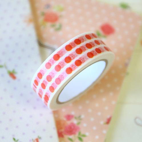 dotty red washi tape
